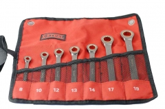 Cr-V Ratcheting Ratchet Combination Ring Open Spanner Gear Wrench Set:7pc/8pc/12pc/14pc/25pc