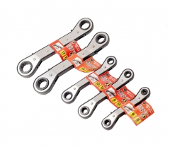 Reversible Offset Double Ratchet Ring Spanner Wrench