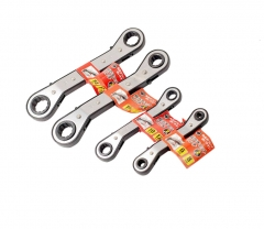 4pc Reversible Double Offset Ratchet Ring Spanner Gear Wrench:6x8,10x12,11x13,14x17mm