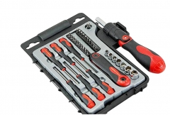All-in-1 36pc Flex Ratchet Screwdriver Socket,Bits,Precision Screwdriver Hex Key