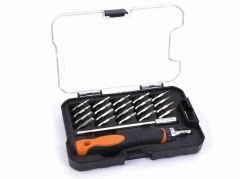 140mm Shank Length 22pc Precision Ratchet Screwdriver Set Deep Reach:Torx Phillips Hex Slotted