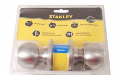 Stanley Bathroom Cylinder Knob Lock Set Fits 35-45mm Thickness LH/RH doors