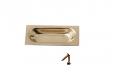 Stanley USA Classic Sold Brass Sliding Door Closet Flush Oblong Pulls