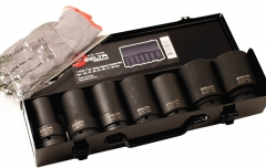 Selta Taiwan 7pc 1in. Dr Cr-Mo 6pt Deep Impact socket set: 24,27,30,32,36,41,46mm